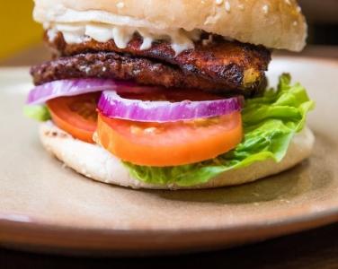 Real tasty gourmet burger