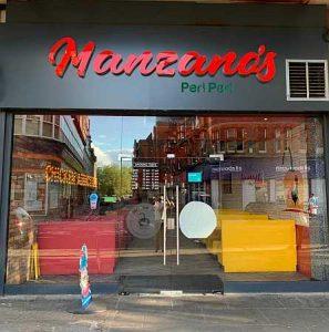 outside view of Manzano's Peri Peri